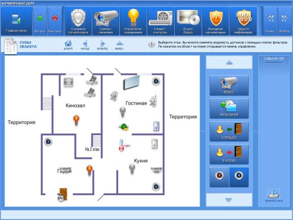Умный дом: системы безопасности и комфорта на единой сенсорной панели